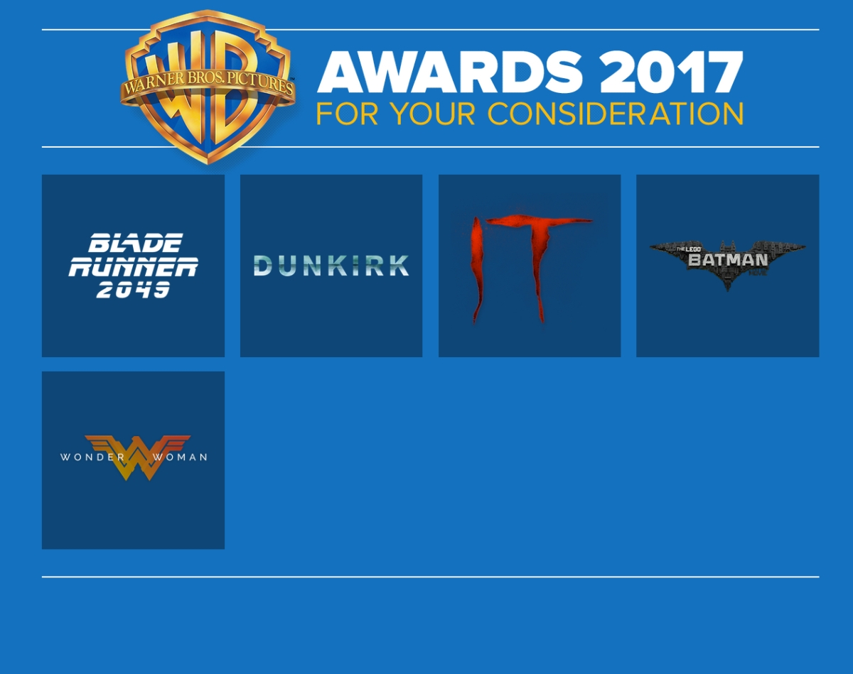 For Your Consideration 2017: Warner Bros. Pictures – .Proof  For Your Consid...