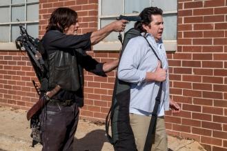 Norman Reedus as Daryl Dixon, Josh McDermitt as Dr. Eugene Porter - The Walking Dead _ Season 8, Episode 15 - Photo Credit: Gene Page/AMC
